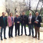 Los presidentes de Consejo General de Colegios Veterinarios de España, del Colegio de Veterinarios de Alicante, de CEVE y de AEVA se reúnen en Alicante para analizar cuestiones sectoriales